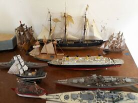 Job Lot of Model hand build Ships and Boats