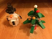 Lego Snowman and Christmas tree