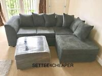 SALE ON BRAND NEW *DYLAN JUMBO CORD CORNER OR 3+2 SEATER SOFA SET AVAILABLE ORDER NOW