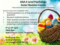 AQA Psychology and Sociology revision courses in Easter holidays
