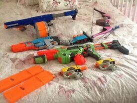 Nerf guns with darts