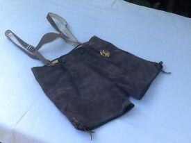 Boys suede leather Lederhosen