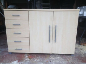 Light wood sideboard with heaps of storage!