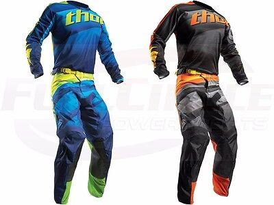 Thor MX Pulse Velow Jersey & Pant Combo Set ATV Motocross Dirt Bike Riding Gear (Dirt Bike Riding Gear)