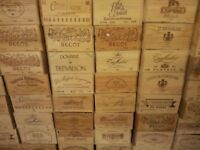 ORGINAL FRENCH WOODEN WINE BOXES - VARIOUS SIZES AVAILABLE