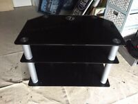 Black glass storage unit / tv unit