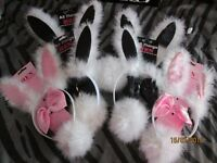 bunny ears and tails x 5 there is 4 black and 1 pink set party hen do all brand new