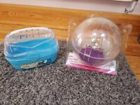 Hamster Ball & Hamster small carry case