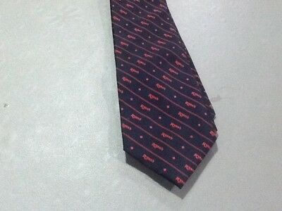 Ryans Steak House Manager Issued Employee Mens Neck Tie Black With Red Logo  Logo Steak