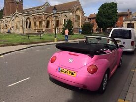 STUNNING PINK VW BEETLE ... LOW MILES ...FULL ELECTRIC PACK