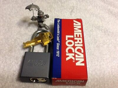 1 One American Series A11 1-34 Gray Aluminum Body Padlock R2 Key-way