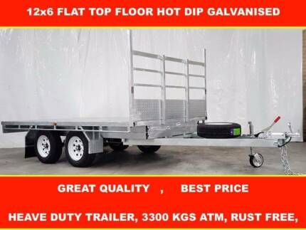 12X6 TOP FLOOR HOT DIP GALVANISED