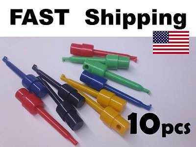 10pcs High Quality Grabbers Probes Ic Smt Test Hook Cable Diy - Usa Ohio Ship