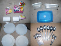 House clearance! 65 pieces of plates, mugs, cutlery.. Students/party/fair/flats for rent.. 23p each!