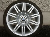 19INCH 5/120 BMW SPIDER REPLICA WHEELS WITH WIDER REAR RIMS AND TYRES,FRONTS8.5/19REARS 9.5/19