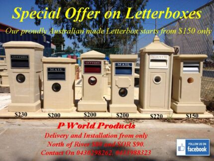 Sandstone Letterboxes for sale Australian Made .................. Landsdale Wanneroo Area Preview
