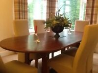 Large oak dining table