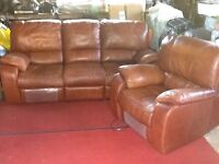 Three piece suite electric recliner