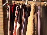 Woman's coats and dresses