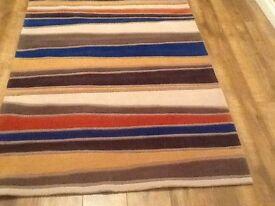Multicoloured rug 120cm X 170cm new