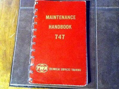 TWA Maintenance Training Handbook for Boeing 747