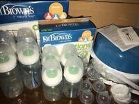 Dr Browns natural flow options bottles with teats