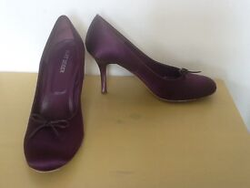 Purple fabric Kurt Geiger stilettos