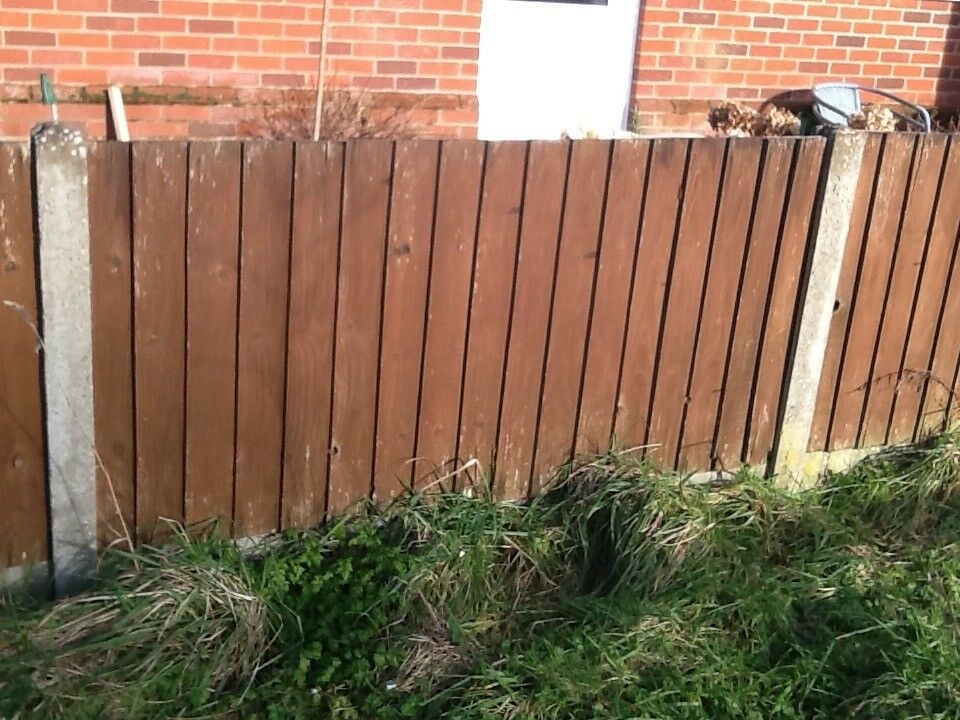 10 x Concrete fence posts 6'  Slotted for panels, 9 straight, 1 corner | in  Dereham, Norfolk | Gumtree