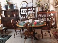 Oak tiled extend dining table ONLY Low Cost Moves 2nd Hand Furniture STALYBRIDGE