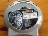Two pairs of car snow chains