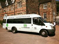 MINIBUS HIRE WITH DRIVER, FEMALE & MALE DRIVERS, 66 PLATES, CARD PAYMENTS ACCEPTED. SUPER SERVICE!