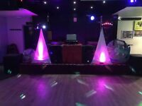 Full DJ Equipment set (inc. speakers,mixer,lights,tripods,leads,hard drive,mic & accessories)
