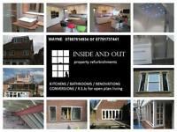 BUILDER / RSJs / CHIMNEY BREAST / BATHROOMS / KITCHENS / WET ROOMS / EXTENSIONS / CONVERSIONS