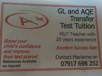 GL & AQE TRANSFER TEST TUITION