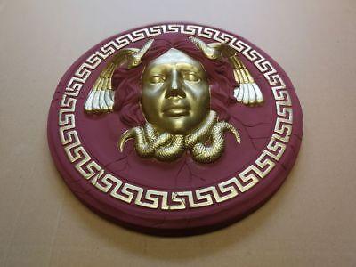 Rosette Medusa Versace Stuck gips Bas relief griechische Reliefs Skulptur Greek