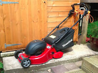 Mountfield Electric Lawnmower. Excellent Condition, barely used and in fully working order.