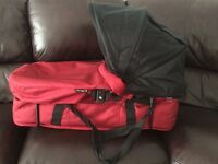 Baby jogger carry cot conversion kit in red. Excellent condition.