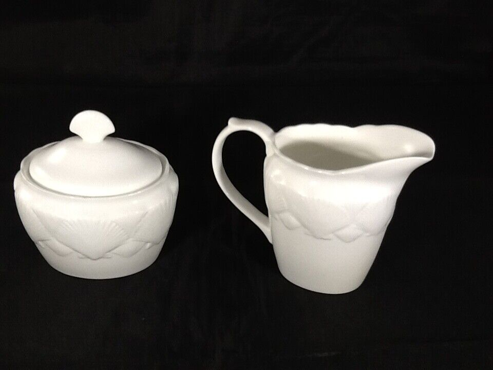 Wedgwood Bone China Oceasde Creamer And Sugar Dish Excellent Condition  - $45.00