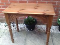 Solid Oak Console/Hall/Dressing Table