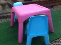 Early Learning child's table and chairs
