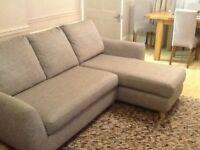 John Lewis G plan vintage the sixty seven RHF chaise end sofa marl grey