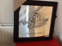 New Sol beer pub style mirror