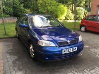 Vauxhall Astra Club MK4, Blue, 1.6 Petrol 16v, 5 door, 52 plate, MOT, Good Running Condition
