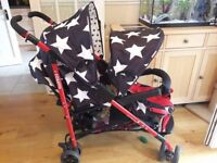 All star Cosatto tandem buggy