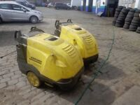2 X KARCHER HOT/COLD PRESSURE WASHER SPARES OR REPAIR £200 FOR BOTH