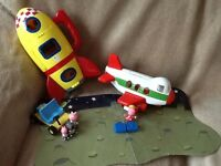 Peppa pig rocket and plane