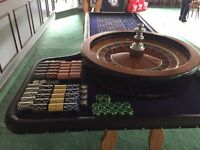 Fun Casino hire for parties & Weddings Roulette blackjack and 3 card poker - DJ package deals