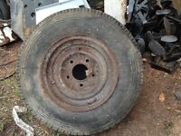 Classic truck wheel and tyre