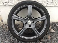 17INCH 4/100 FOX ALLOY WHEELS WITH TYRES FIT VAUXHALL RENAULT ROVER TOYOTA SUZUKI SEAT ETC