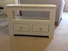 corner tv unit white paint effect
